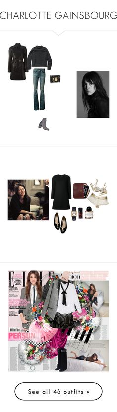 """""""CHARLOTTE GAINSBOURG"""" by caro4sure ❤ liked on Polyvore featuring Maison Margiela, rag & bone/JEAN, Burberry, Wilfred Free, Yves Saint Laurent, Chanel, Byredo, Home Source International, Kiki de Montparnasse and Charlotte Russe"""