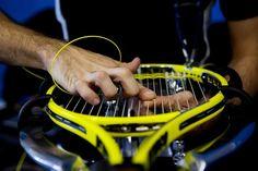 Official stringers lace player's tennis racquets at Melbourne Park. Australian Open 2013  #tennis  #ausopen