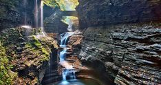 This Km Gorge Trail Will Take You Past 19 Waterfalls Near Ontario This Spring featured image Watkins Glen State Park, East Coast Travel, Rainbow Falls, Forest Trail, Across The Border, Stunning View, Hiking Trails, Nice View, State Parks