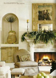 Mantle decor - and alcove decor idea . . .