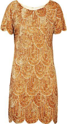 RACHEL GILBERT   Annabelle Sequined Satin Dress