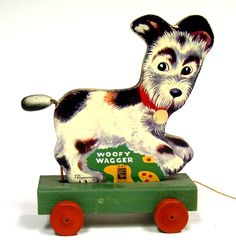 vintage pull toy Woofy Wagger