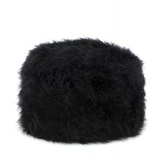 Wholesale Faux Fur Footstool: Fuzzy Black Ottoman Pouf Beanbag Pillow For Floor Living Furniture, Home Decor Furniture, Egyptian Cotton Duvet Cover, Black Ottoman, Dream Apartment, Pouf Ottoman, Shabby Chic Homes, Living Room Modern, My New Room