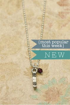 Love this new typewriter necklace. It's actual typewriter bar, made into a necklace. $34