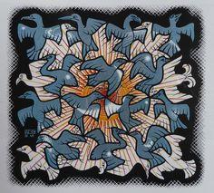 Esher tessellation pattern