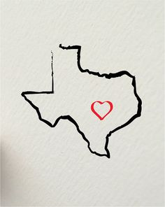 the state of TEXAS Austin USA 8 x 10 by hunterandsmile on Etsy, $17.50