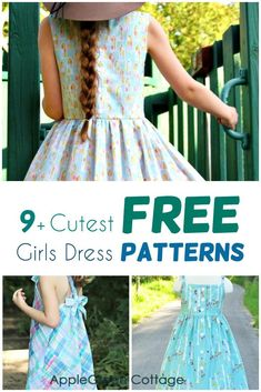 Looking for a cute and free dress pattern for girls? Check out these 10 free girls dress patterns, all easy sewing projects that will make your daughter or granddaughter so happy! All have free patterns and sewing tutorials included. Check them out now! Little Girl Dress Patterns, Summer Dress Patterns, Baby Clothes Patterns, Sewing Patterns Girls, Vintage Dress Patterns, Children's Dress Patterns, Easy Girls Dress, Kids Summer Dresses, Cute Girl Dresses