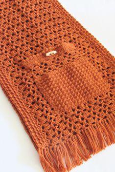 Crochet Shawl with Pockets and Fringe, Passion Shawl - Crochet Dreamz Crochet Poncho Patterns, Crochet Shawls And Wraps, Crochet Scarves, Crochet Clothes, Crochet Stitches, Knit Crochet, Crochet Patterns For Beginners, Crochet Fringe, Crochet Capas