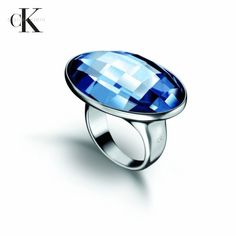 Blue Continuity Ring by Calvin Klein via mercatoconvenienza. Click on the image to see more!
