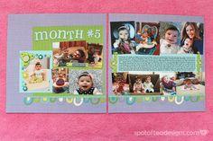 #Baby #Scrapbook Month 5 | spotofteadesigns.com