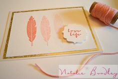 stampin up craft, natalie bradley, stampin up card, four feathers stamps, natural card2.handmade card by natalie bradley