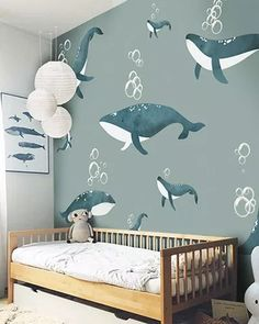 LH – Whales Room – Kleine Hände Best Picture For baby room decor bear For Your Taste You are looking for something, and it is … Baby Bedroom, Baby Boy Rooms, Baby Room Decor, Girls Bedroom, Bedroom Decor, Little Hands Wallpaper, Kids Room Wallpaper, Kids Room Design, Nursery Design