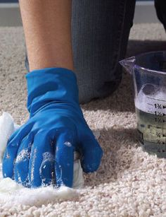 How to clean a wool rug-Bob Villa MATERIALS AND TOOLS - Vacuum - Rubber gloves (optional) - Rug shampoo or mild dish detergent - Bucket - Sponge - Soft-bristled brush - Squeegee - Water—lots and lots of water (i.e., get your hose out!)