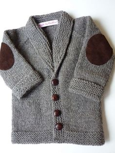 Knit Baby Sweater, Hand Knitted Grey Baby Cardigan, Gray Baby boy Clothes, New Born Baby Gift for Baby Showers, Cable Knit coat Baby Boy Knitting, Knitting For Kids, Baby Knitting Patterns, Knitting Ideas, Baby Boy Fashion, Fashion Kids, Suit Fashion, Fashion Clothes, Baby Boy Outfits