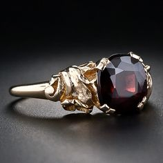 Love this ring! Art Nouveau Style Garnet Ring