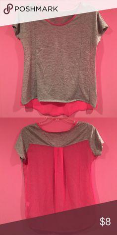 SO sheer back tee shirt Good used condition. No flaws. See through back SO Tops Tees - Short Sleeve