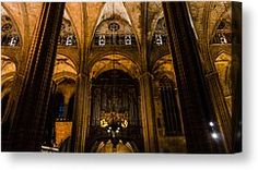 Barcelona - The Cathedral Canvas Print by Andrea Mazzocchetti