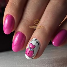 Awesome nails I know it's kind of plain but it is amazing -love. I'd definitely add a cute tiny red heart to one of the nails Nail Art Hacks, Easy Nail Art, Love Nails, Pink Nails, Short Nail Manicure, Romantic Nails, Nail Polish Stickers, Art Simple, Cute Nail Designs