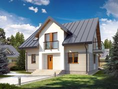 Projekt domu NV-PR-004578 Rio 2, New Builds, Modern Industrial, Home Fashion, Traditional House, My Dream Home, Modern Architecture, Bungalow, Tiny House