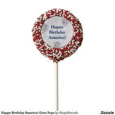 Happy Birthday America! Oreo Pops