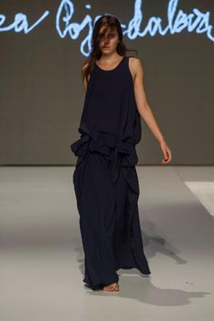 Collection of Andrea Pojezdálová presented during Fashion LIVE! One Shoulder, Formal Dresses, Collection, Live, Black, Style, Fashion, Moda, Formal Gowns