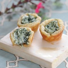 Zestuous Spinach Cups ~ a cute creamy appetizer for St. Patrick's Day
