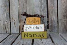 Mothers day Dad Grandpa Grandma Mom Nana Father Papa Stacker wood blocks personalized gift fathers day home decor. via Etsy