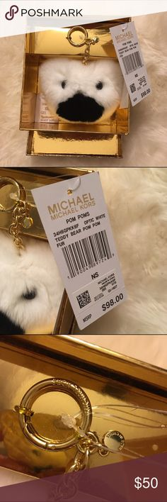 Michael kors bear bag charm New in box never been used. Michael Kors Accessories Key & Card Holders