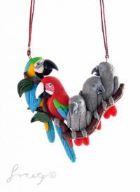 Vijf papegaaien ketting