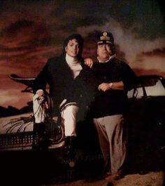Michael and his tour manager Frank
