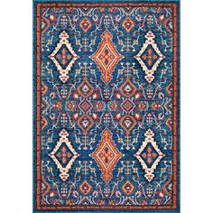 nuLOOM Traditional Ornamental Diamonds Multi Rug (9' x 12') | Overstock.com Shopping - The Best Deals on 7x9 - 10x14 Rugs