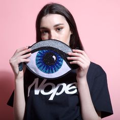 Glitter Eye Clutch - Luna On the Moon My Bags, Purses And Bags, Novelty Bags, Evil Eye Jewelry, Cute Purses, Cute Bags, Clutch Bag, Fashion Bags, Pop Art