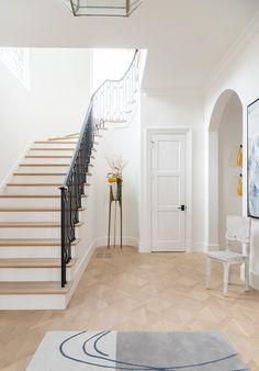 "Interior Design Ideas: Tailored Interiors - ""Flooring"" - Home Bunch Interior Design Ideas Natural Oak Flooring, Cabinet Paint Colors, Visual Comfort, Hallway Decorating, Tile Design, Home Decor Inspiration, Hardwood Floors, Dining Chairs, Interior Design"