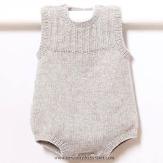 Baby Knitting Patterns 41 / Baby Romper / Knitting Pattern Instructions in English ...