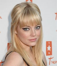 blonde with bangs