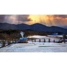 A gorgeous snow scene in Cherokee, North Carolina! Photo by John Crisp Photography