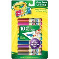 Amazon.com: Crayola Color Wonder 10 Mini Markers: Toys & Games