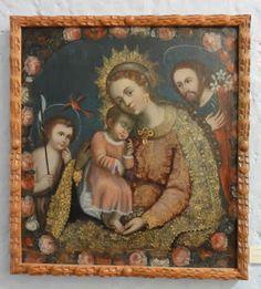 MONASTERIO DE SANTA TERESA, Arequipa. sagrada Familia con San Juan Bautista niño