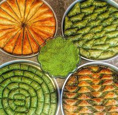 Y Turkish Baklava, Turkish Recipes, Ethnic Recipes, Turkish Kitchen, Arabic Sweets, Bakery, Yummy Food, Meals, Eid Cakes