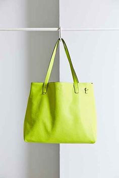 Reversible Canvas + Vegan Leather Tote Bag - Urban Outfitters