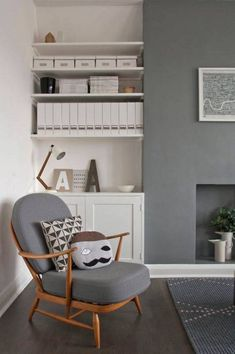 ACCENT WALL IN DARK GREY