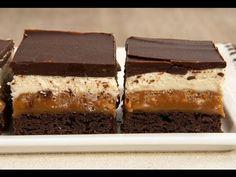 Pastane ve Kafe Usülü Karamel Crunch Brownie Tarifi - YouTube