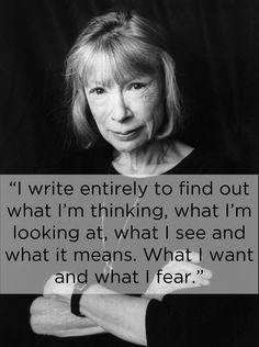 Joan Didion! ♥❥ One of my most favourite authors, ever. Her work is the most descriptive and leaves a mark on you somehow...She really is a master at taking you along with her. Love, love, love her wielding of words!