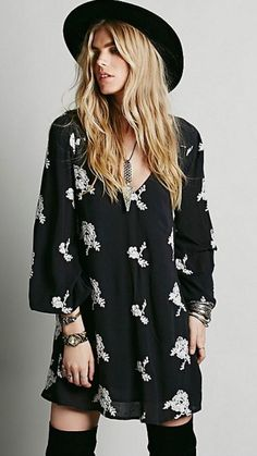 Free People Embroidered Austin Emma's Dress floral black white medium NWT $148 in Clothing, Shoes & Accessories, Women's Clothing, Dresses | eBay