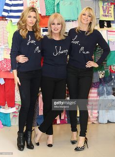 Abbey Clancy, Joanna Lumley and Zoe Ball attend a photocall to launch the M&S 'Love, Mum' shwopping campaign in conjunction with Oxfam at Marks & Spencer Marble Arch on February 4, 2014 in London, England.