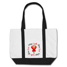 Stroke Faith Hope Love Cross Canvas Bags by giftsforawareness.com #StrokeAwareness #StrokeAwarenesstotebags