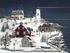 SHARON ESTHER ASCHERL ~ Christmas Party at the Lightkeepers