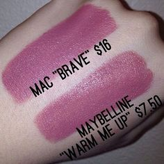 "Maybelline ""Warm Me Up"" is a perfect dupe for Macs popular lipstick in ""Brave"""