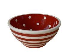 Polka Dots and Stripes bowl