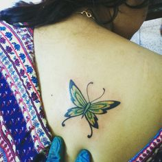 Butterfly girl tattoo soft feather leaf fire sharp
